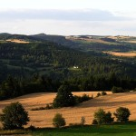 Pohled z Karasína na Hluboké a Polom