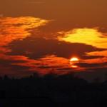 Západ slunce nad Bystřicí